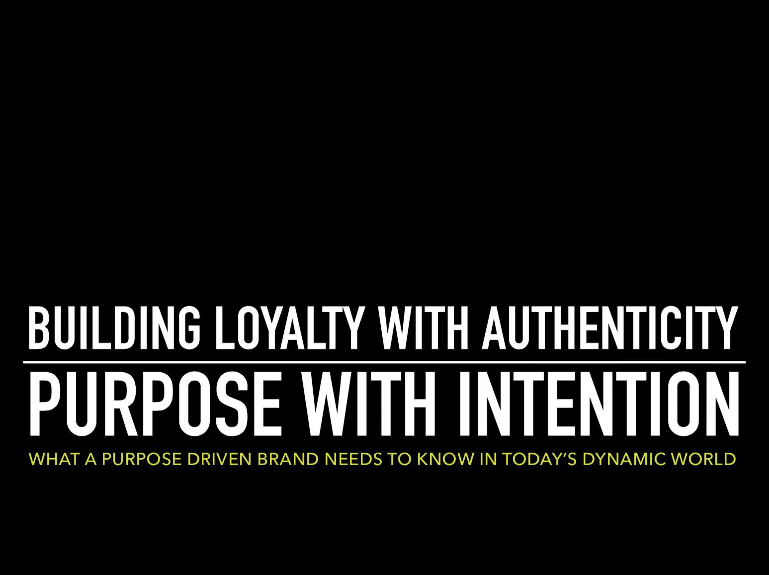 building a purpose driven brand