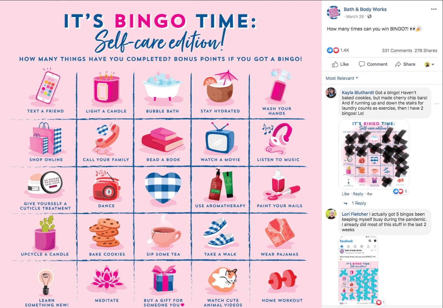 successful cpg social media advertising COVID case study bath and body works